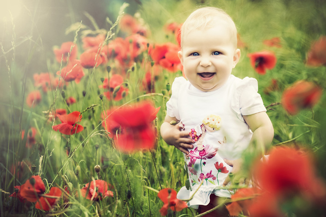 Babyshooting, Kinderfotograf, Thüringen, Erfurt, Eisenach, Gotha, Fotos, Blumen, Wiese, Natur, Babybilder
